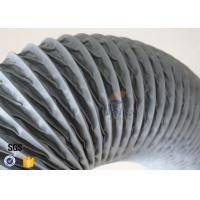 Quality PVC Coated Fiberglass Fabric Flexible Air Duct Grey Waterproof 200MM 5M 260℃ wholesale