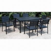 China Dinning Set, Includes 1 Table/6 Chairs, Made of Plastic Batten/Aluminum Frame/Environment-protection on sale