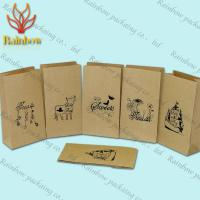 Quality Eco-friendly Stand Up Brown Kraft Customized Paper Bags For Shopping wholesale