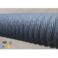 Cheap 150mm Grey PVC Coated Fiber Glass Hose Fiberglass Flexible Air Ducting for sale