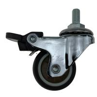 Threaded Stem Coffee Color Swivel Caster Wheels For Industrial Equipment