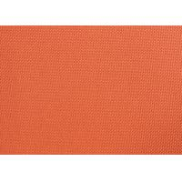 China Orange Dyed PVC Coated Polyester Fabric Waterproof For Suitcases on sale