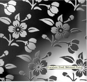 Quality Chrysanthemum Type 420 / 430 / 410 /304 Stainless Steel Embossed Sheet Decorative Plate EN wholesale