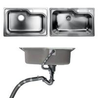 Quality Undermount Kitchen Bathroom Sinks With Single Bowl Brushed Metal Material wholesale