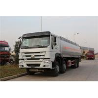 Quality Sinotruk HOWO 8x4 Fuel Delivery Tanker For Liquid Gas Diesel Oil Transportation wholesale