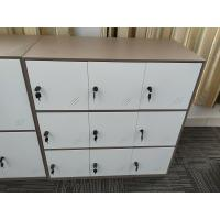 Quality KD structure 9 door metal clothes locker furniture  white coffee color wholesale