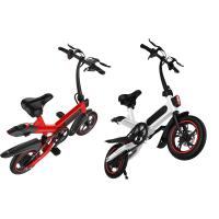 China Compact Size Small Folding Electric Bike 36V 10AH Battery 17.5KG 107 * 45 * 100CM on sale