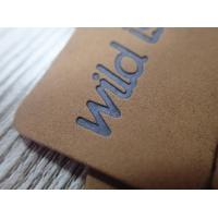 China Eco- Friendly Washable Brown Soft Leather Embossed logo hang tag on sale
