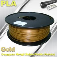 China 1.75mm /  3.0mm Gold PLA 3d Printer Filament 100% biodegradable on sale