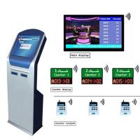 Quality Bank Wireless 17 inch IR Touch Screen queuing ticket management system with Dual Printer Ticket Dispenser wholesale