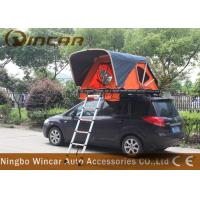 Quality Orange Color Rooftop Vehicle Tents Aluminum Frame With Ladder For Outdoor Camping wholesale