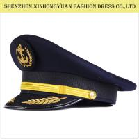 Quality Railway Military Hats And Caps / Military Style Hats For Men Army Peaked Cap wholesale