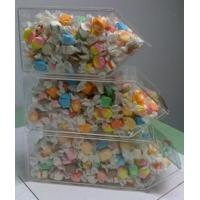 Quality Acrylic Candy Display Cases ,3 Tier Stackable Bins With Scoop Holder wholesale