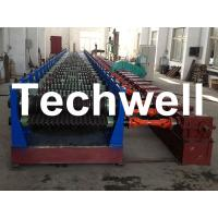 Quality Automatic 4 - 8m/min Galvanized Steel Silo Corrugated Wall Sheet Roll Forming Machine wholesale