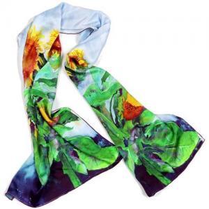 Quality nobleness style digital printed OEM women silk scarves/neckwear wholesale