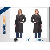 Buy cheap Anti Static SMS Disposable Lab CoatBlue Suit Fluid Resistant With Knitted Collar from wholesalers