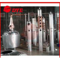 Quality 500Gal Stainless Steel / Copper Industrial Distillation Equipment With Bubble Cap wholesale