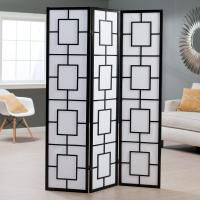 Quality 3 Panels Wooden Foldable Decorative Room Divider Screens For Rooms wholesale