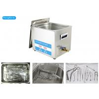 Quality Digital Timer Medical Ultrasonic Cleaner With 600W Heating Power 22 Liter 400 Watt wholesale