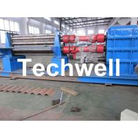 Quality 3 - 6mm Corrugation Rolling Machine With 45kw Motor and PLC Control Box wholesale