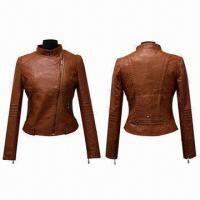 China Hot-sale Women's Leather Jackets, Customizable, Available in Various Colors on sale
