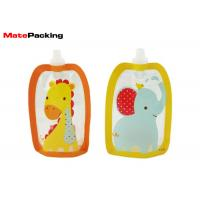 Quality BPA Free Spout Pouch Refillable Baby Food Squeeze Pouch With Spout Special Shape wholesale