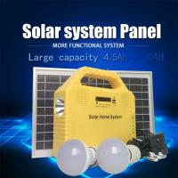 China Multi-Function Solar Power System 6W Generator Home Light Solar Panel Kit USB with 2 LED on sale