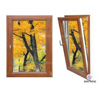 Quality Inward Tilt Turn Aluminium Windows And Doors Wooden Color With Powder Coating wholesale