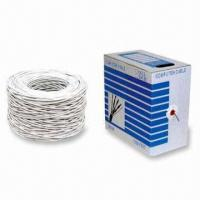 China Network Cat 5 and Cat 5e Cable, Rated to 100m on sale