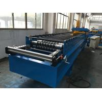 Quality 7.5kw Corrugated Sheet Metal Roll Forming Machine With Electrical Decoiler wholesale