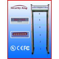 Quality Electrical Walk Thru Metal Detectors with Six Detecting Zones EB50082 Anti Inference wholesale
