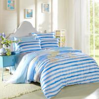 Quality Kids Bedroom Home Bedding Sets Environmentally Friendly Blue / Black And White Striped Bedding wholesale