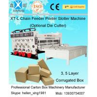 Quality 5.5kw Flexo Carton Printing Slotting Machine With Double Roller For Cardboard wholesale