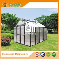 China 258X253X250CM Black Color Imperial Series Double Door Aluminum Greenhouse on sale