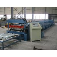 Cheap Mitsubishi PLC Metal Cold Roll Forming Equipment For Deck , Roll Forming Line for sale