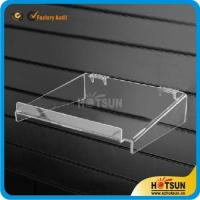 Quality clear acrylic sliding shoe racks hanging shoe rack acrylic wall mounted storage rack plexiglass shoe store shelf wholesale