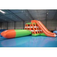 Quality 0.9mm PVC Tarpaulin Inflatable Water Sports /  Water Park Games With Blob wholesale