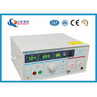 Quality IEC Standard Hipot Test Equipment Automatically Control For Withstanding Voltage Test wholesale