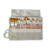 China School Artists Body Paint Brushes Set Wood Watercolor Brushes Set with Pencil Case on sale
