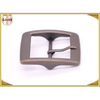 Quality Plain Design Brass Plated Metal Belt Buckle , Central Bar Buckle with Pin wholesale