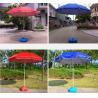 Buy cheap Customized Logo Silk Screen Promo Beach Umbrella Durable Frame And Fabric Umbrella from wholesalers