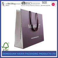 Quality Hot Stamping Logo Paper Bags With Handles , Paper Shopping Bags Recyclable wholesale