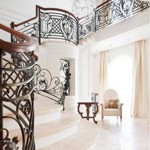 China Deck/balcony/stair railing, wrought iron fence, cast iron railing,outdoor iron railing on sale