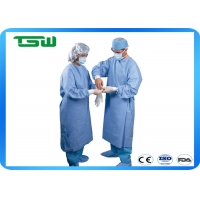 China Blue Disposable surgical gown 30gsm for different size and CE FDA ISO approved on sale