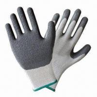 Quality Latex-coated/-dipped Safety Gloves with Excellent Grip, Durable wholesale