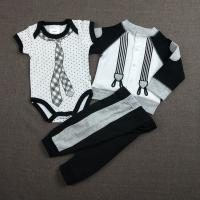 Quality Anti Shrink Autumn Infant Girl Clothes Outfits Casual Shape 3pcs Knitted wholesale