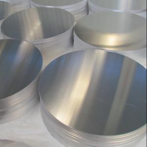 Cheap 1060 Anodized Aluminum Discs / Round Aluminum Plate Customized Size EN573-1 for sale