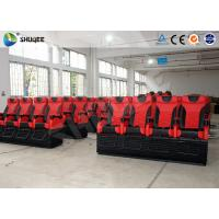 Quality Large 4D Movie Theater Long Movie Pneumatic System Chair With Cup Holder wholesale