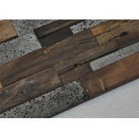 Cheap Natural Mosaic Wood Floor Mixed Color , Old Ship Modular Wood Wall Panels for sale