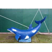China Artificial Fiberglass Whale High Durability With Excellent Anti Fading Ability on sale
